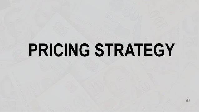 PRICING STRATEGY 50