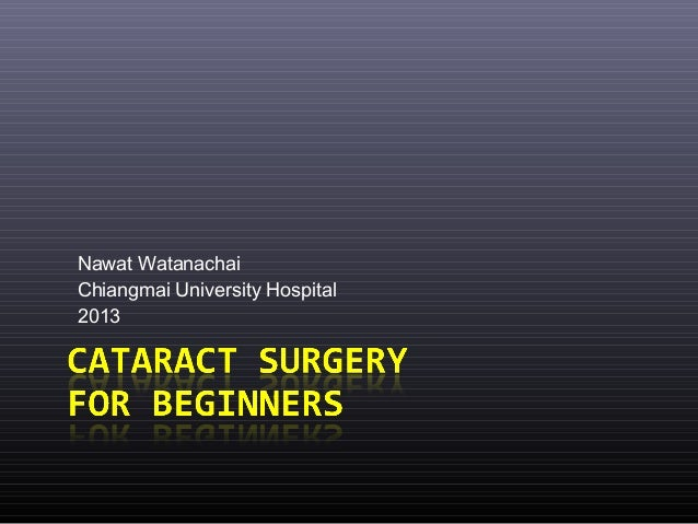 Nawat Watanachai Chiangmai University Hospital 2013