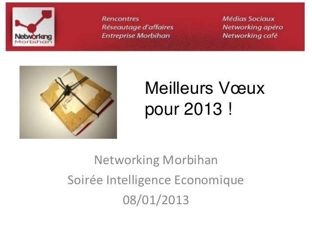 Meilleurs Voeux  pour 2013 !  Networking Morbihan  Soirée Intelligence Economique  08/01/2013