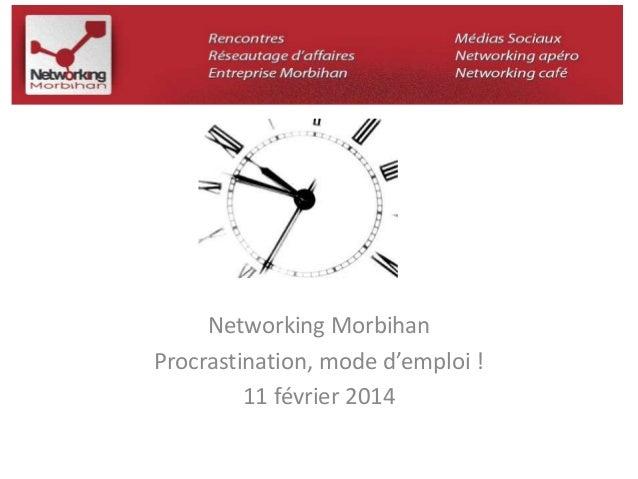 Networking Morbihan  Procrastination, mode d'emploi !  11 février 2014