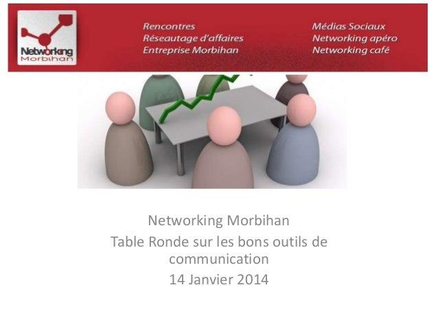 Networking Morbihan  Table Ronde sur les bons outils de  communication  14 Janvier 2014
