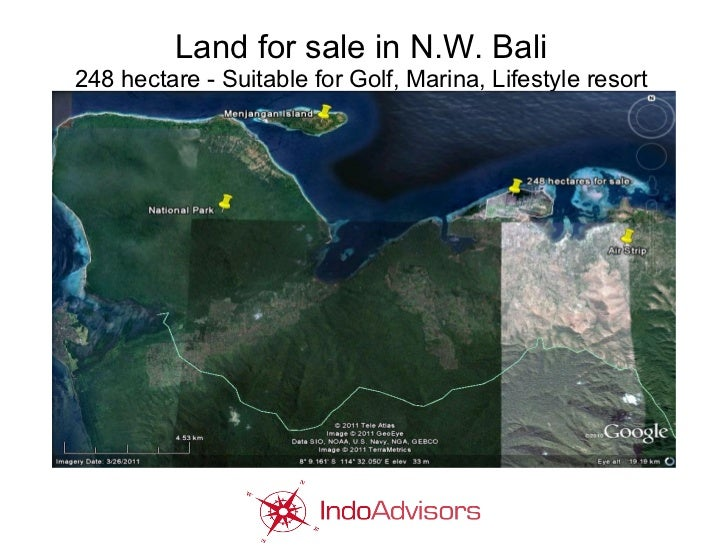 Land for sale in N.W. Bali248 hectare - Suitable for Golf, Marina, Lifestyle resort