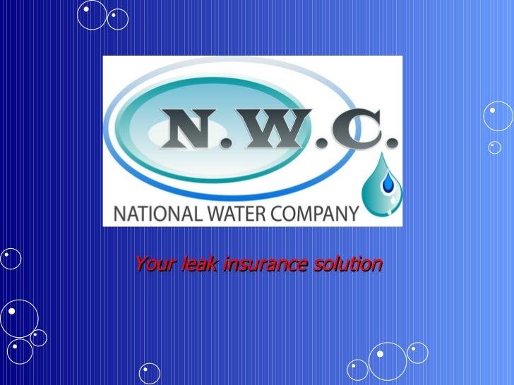 Your leak insurance solution