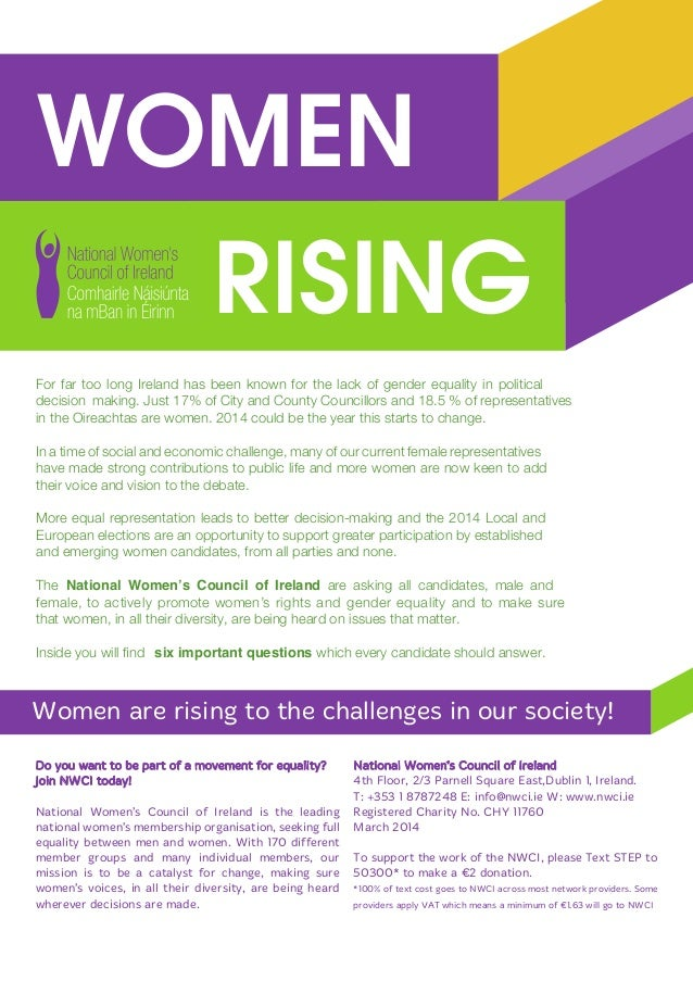 WOMEN RISING Women are rising to the challenges in our society! Do you want to be part of a movement for equality? Join NW...