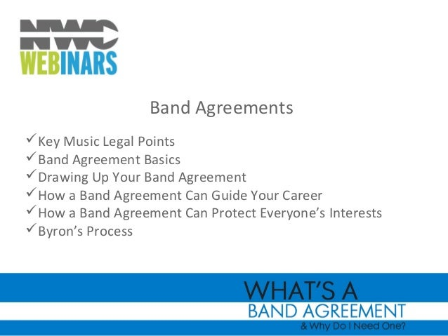 Nwcwebinar Whats A Band Agreement