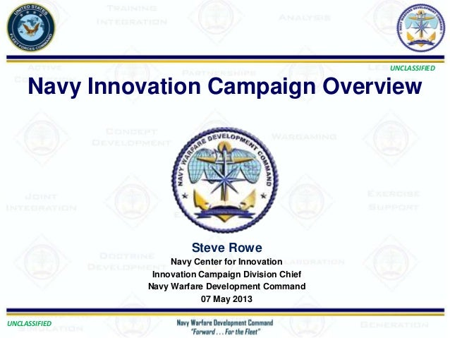 UNCLASSIFIEDUNCLASSIFIEDSteve RoweNavy Center for InnovationInnovation Campaign Division ChiefNavy Warfare Development Com...