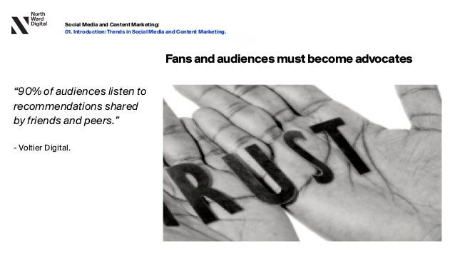 """20.09.13 Fansandaudiencesmustbecomeadvocates """"90% of audiences listen to recommendations shared by friends and peers.""""   ..."""