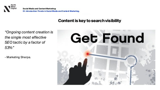 """20.09.13 Contentiskeytosearchvisibility """"Ongoing content creation is the single most effective SEO tactic by a factor of 53%..."""