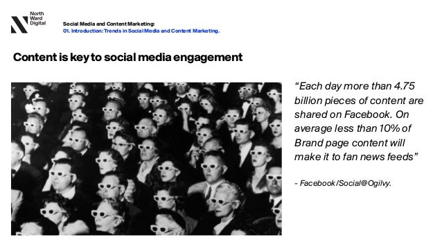 """""""Each day more than 4.75 billion pieces of content are shared on Facebook. On average less than 10% of Brand page content ..."""