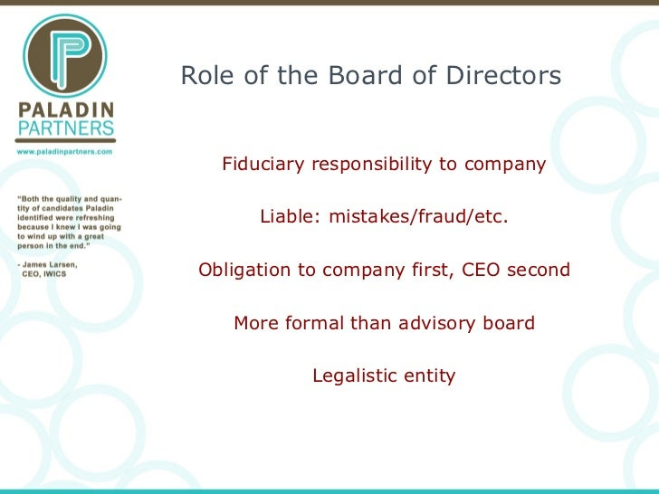 Building a Board/Advisory Board/Exec Team Slide 2
