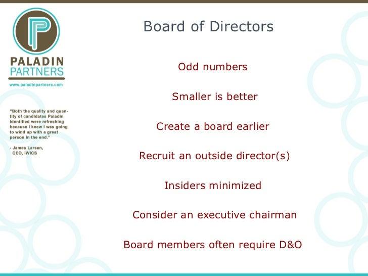 Building a Board/Advisory Board/Exec Team Slide 3