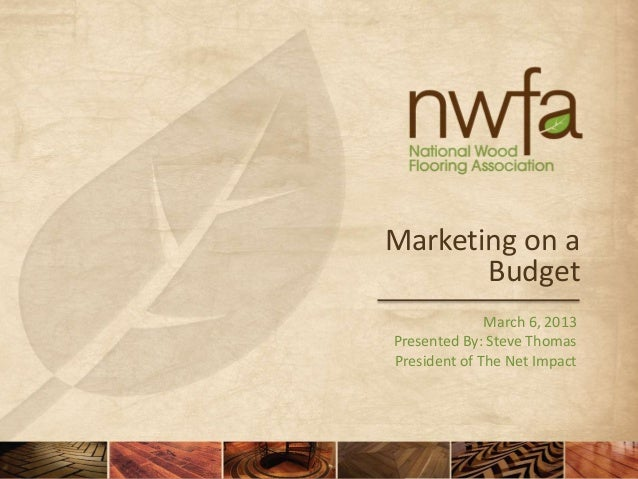 Marketing on a       Budget              March 6, 2013Presented By: Steve ThomasPresident of The Net Impact