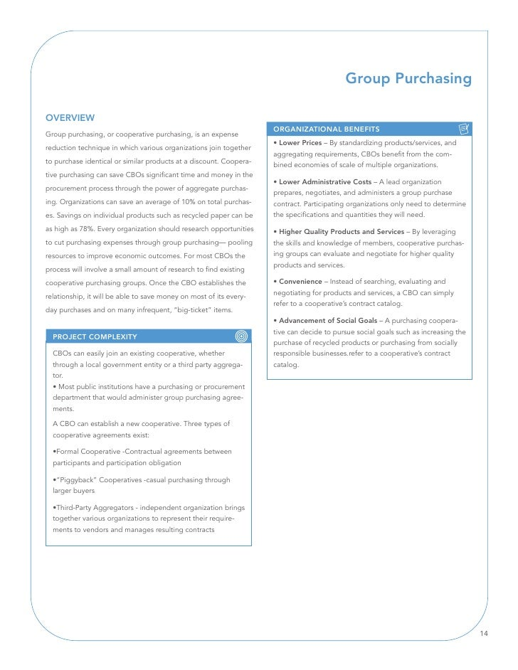 Group Purchasing  OVERVIEW                                                                     ORGAnIZATIOnAl BEnEFITS Gro...