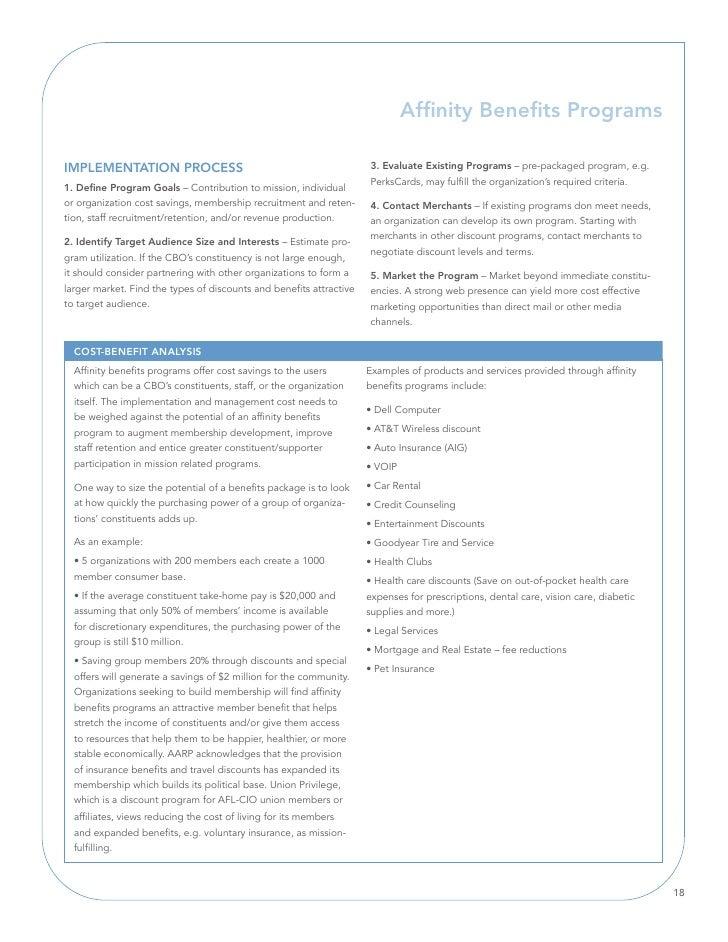 Affinity Benefits Programs  IMPlEMEnTATIOn PROCESS                                               3. Evaluate Existing Prog...