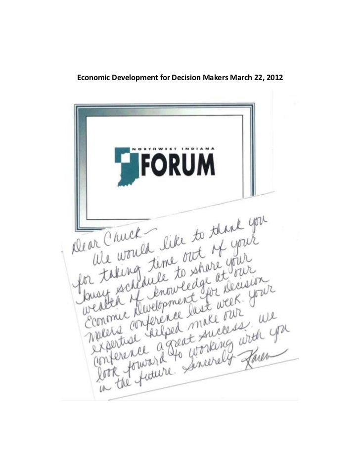 Economic Development for Decision Makers March 22, 2012