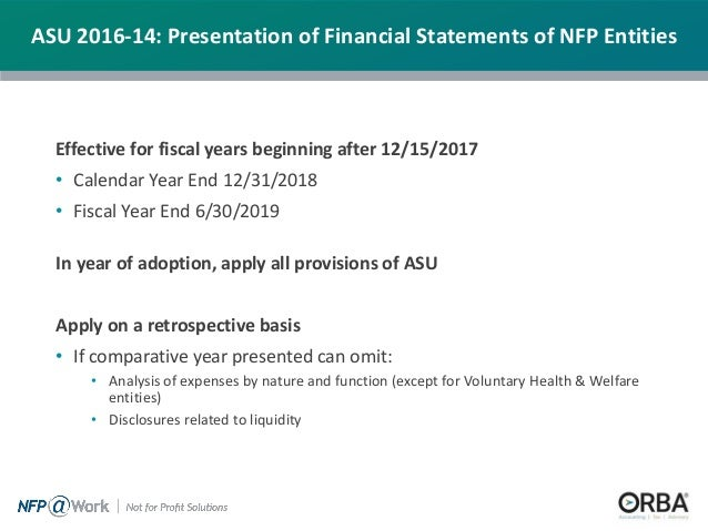 financial statements of nfp entities 6 effective for fiscal years