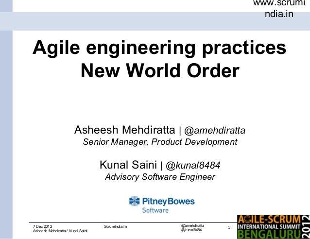 www.scrumi                                                                          ndia.inAgile engineering practices    ...