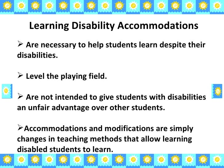 learning disabilities 2 essay The majority of learning disabled students identified have processing  although  less frequent, there are learning disabilities specific to writing ability  making an  outline with topic for each paragraph 2 work on one paragraph at a time,.
