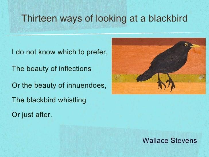Thirteen ways of looking at a blackbird essays