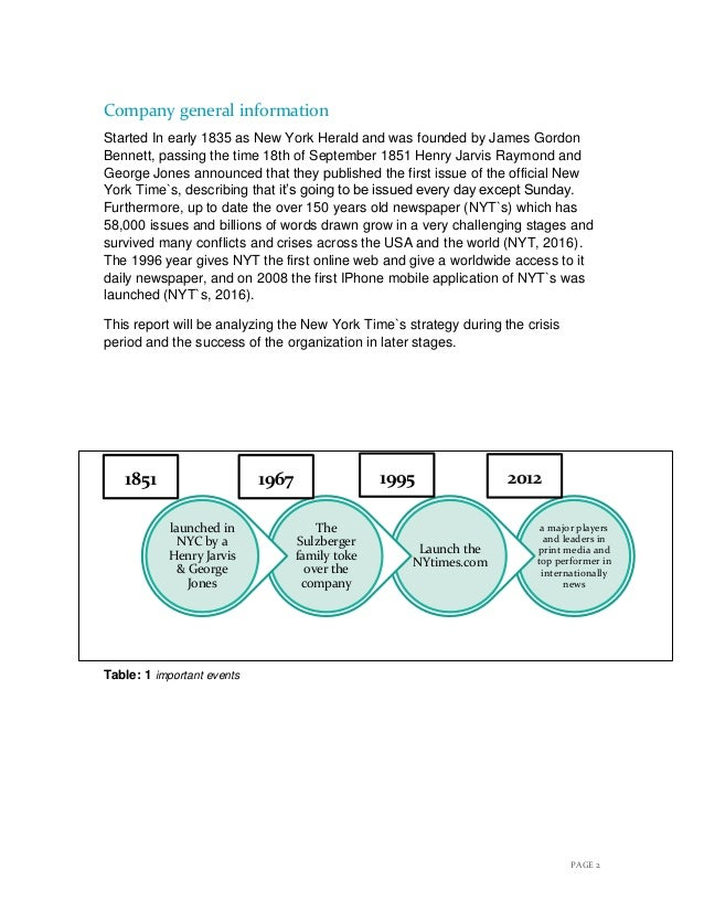 New york time`s case analysis final Slide 3
