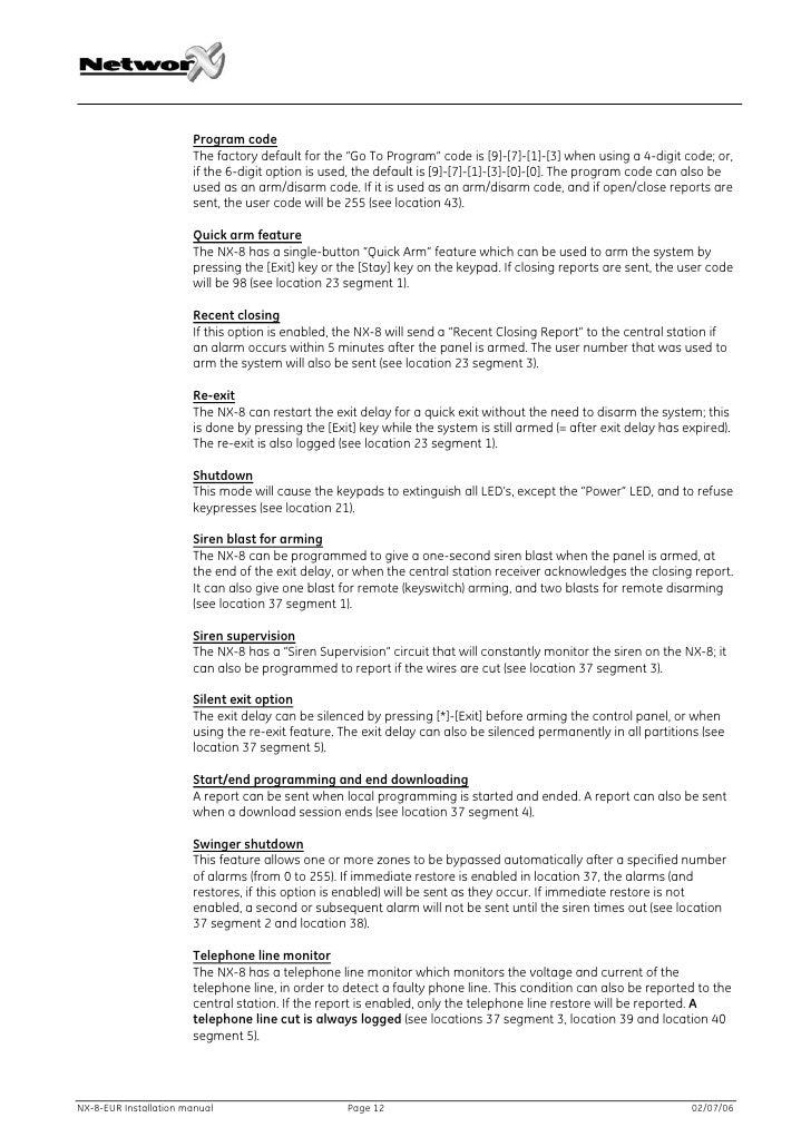 caddx nx 8v2 programming manual