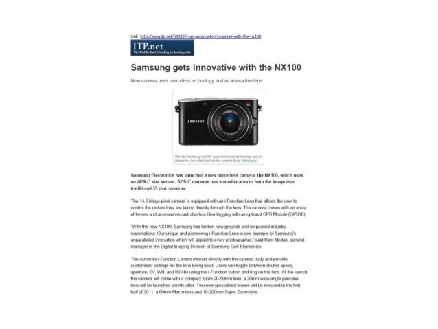 Samsung gets innovative with the NX100