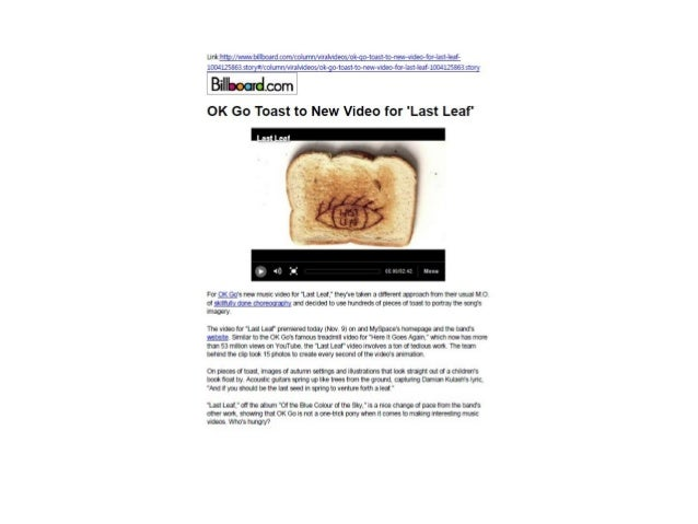 OK Go Toast to New Video for Last Leaf