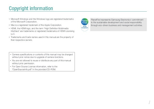 Samsung NX200 Manual / User Guide Slide 2