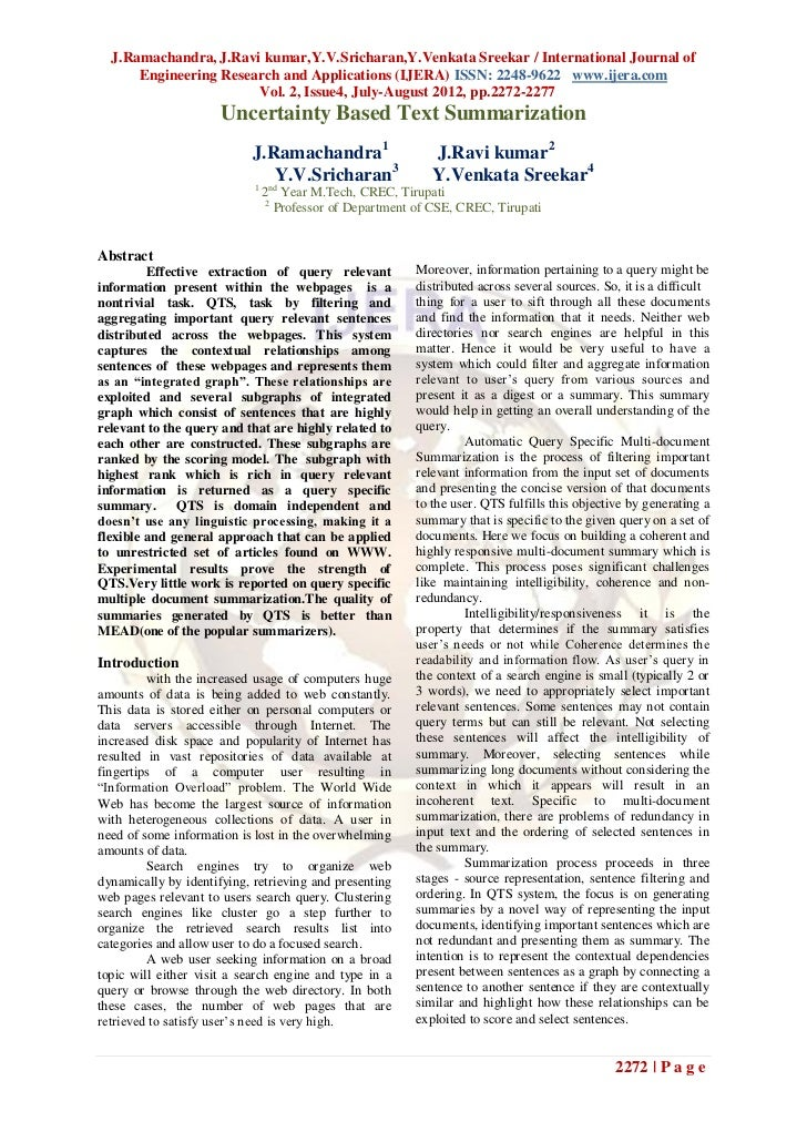 J.Ramachandra, J.Ravi kumar,Y.V.Sricharan,Y.Venkata Sreekar / International Journal of      Engineering Research and Appli...