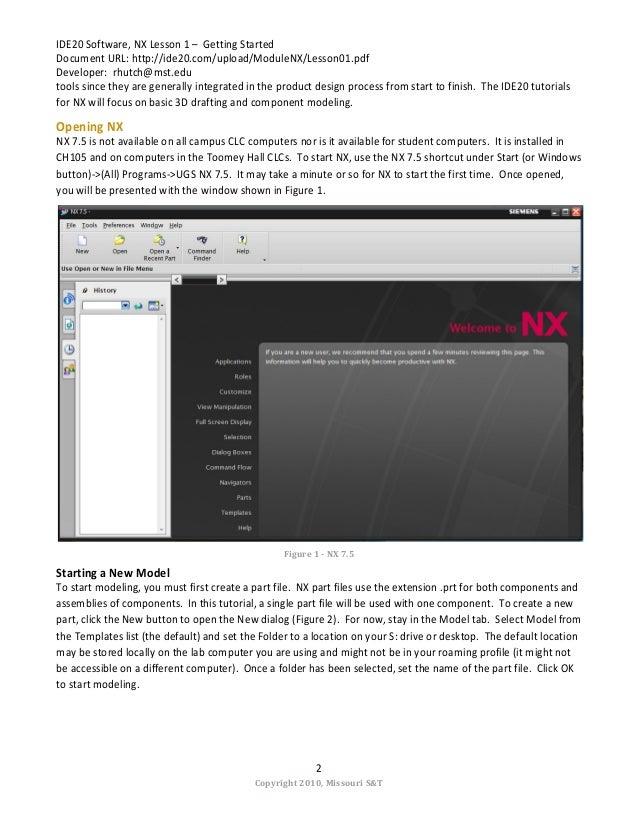 nx 7.5 tutorial pdf download