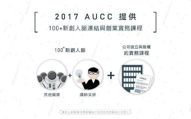 個人懶人包 AUCC 校園創業培育計畫(第二波)