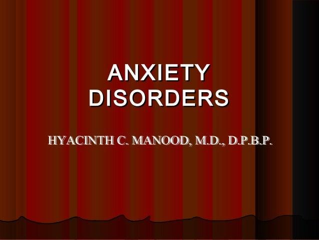 ANXIETYANXIETY DISORDERSDISORDERS