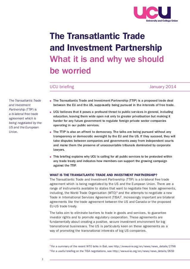 The Transatlantic Trade And Investment Partnership