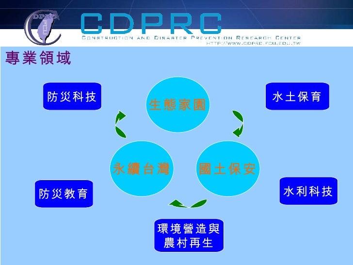 水土保育 水利科技 環境營造與 農村再生 防災教育 防災科技 專業領域 生態家園 國土保安 永續台灣