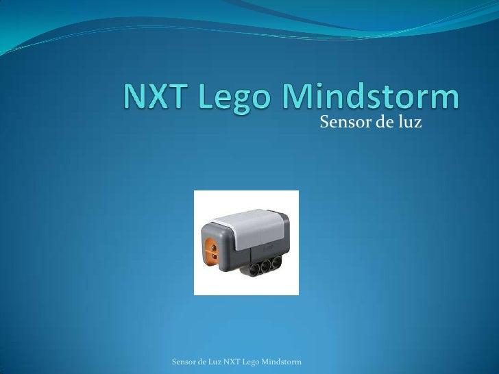 Sensor de luz     Sensor de Luz NXT Lego Mindstorm