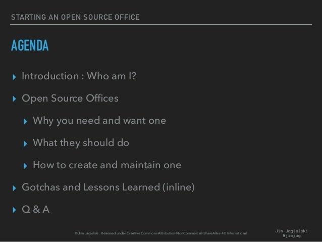 Starting an Open Source Program Office Slide 2