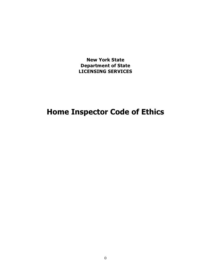 New York State - Inspector Code of Ethics