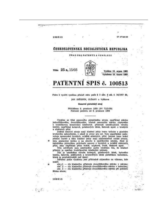 českoslovENSKÁ socIALISTICKÁ REPUBLIKA Pro PATENTx a vynálezy -52A}   r . - } - Třída 25 1503 - Vydáno 15. srpna 1961 Vylo...
