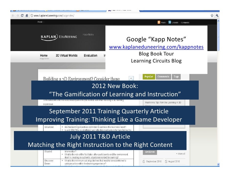 "Google""KappNotes""                            www.kaplaneduneering.com/kappnotes                                      Blo..."
