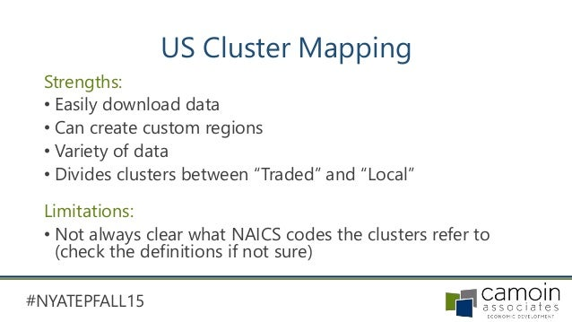 Data Data Data How To Use Free Data Tools To Create Workforce Develo - Us cluster mapping