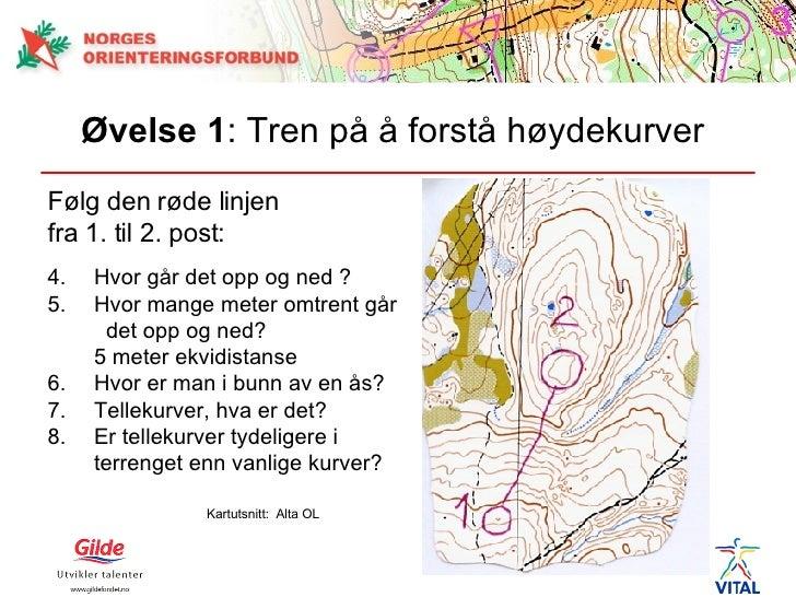 høydekurver på kart Nybegynneropplæring i orientering høydekurver på kart