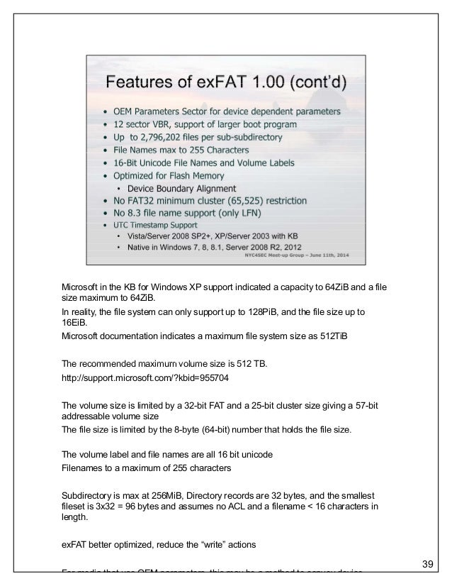 NYC4SEC - An Introduction to the Microsoft exFAT File System (Draft 2…