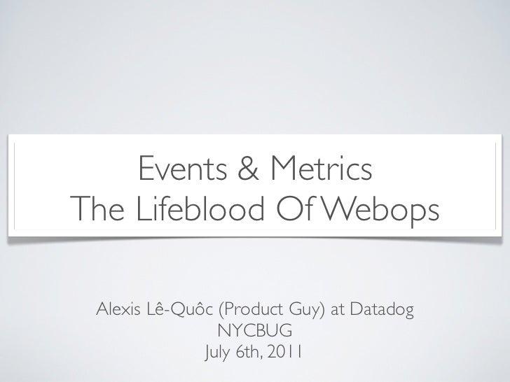 Events & MetricsThe Lifeblood Of Webops Alexis Lê-Quôc (Product Guy) at Datadog                NYCBUG              July 6t...