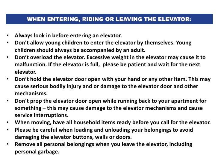 Nycha Elevator Safety