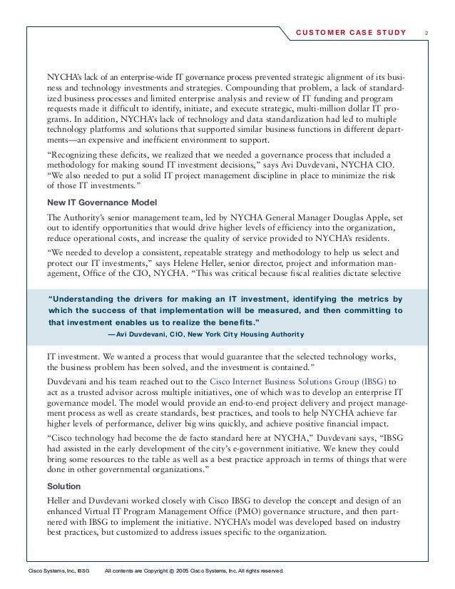 Cisco Systems, Inc., IBSG All contents are Copyright ©2005 Cisco Systems, Inc. All rights reserved. C U S TO M E R CA S E ...