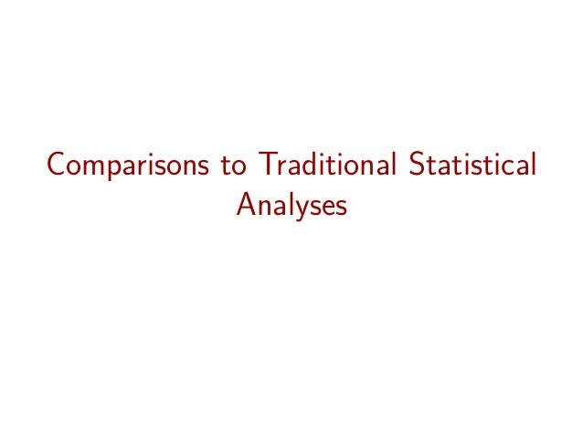Comparisons to Traditional Statistical Analyses
