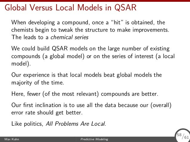 """Data Quality (QSAR Again) One """"Tier 1"""" screen is an assay for logP (the partition coefficient) which we use as a measure of ..."""