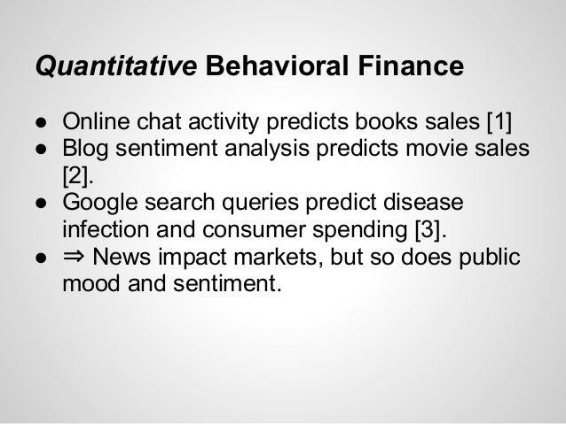 Quantitative trading signals