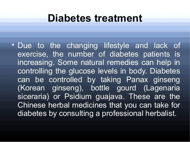 Diabetes treatment  Due to the changing lifestyle and lack of exercise, the number of diabetes patients is increasing. So...