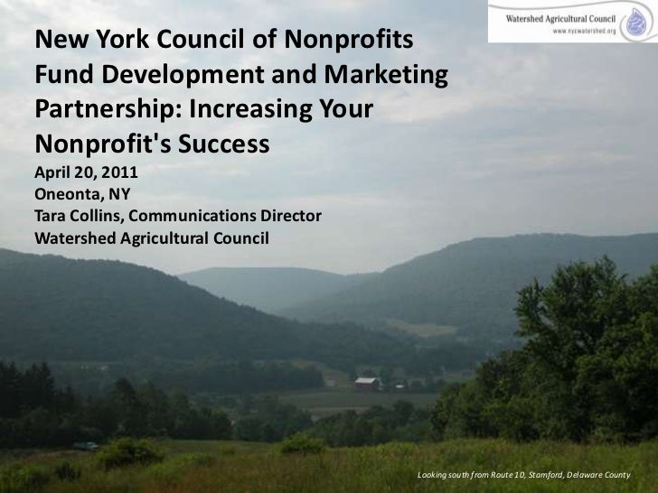 New York Council of Nonprofits Fund Development and Marketing Partnership: Increasing Your Nonprofit's SuccessApril 20, 20...